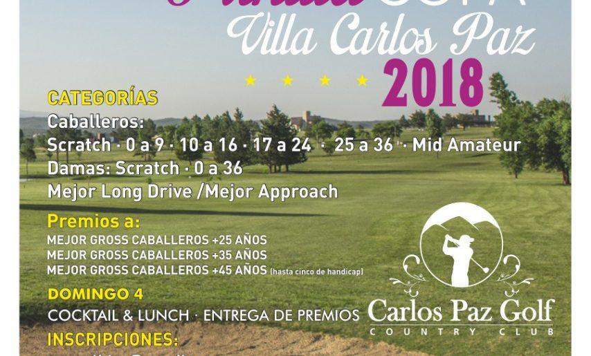 """7° ABIERTO DE PUNILLA DE GOLF """"COPA VILLA CARLOS PAZ 2018"""""""