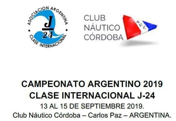 CARLOS PAZ RECIBE EL CAMPEONATO ARGENTINO DE VELA CLASE INTERNACIONAL J24