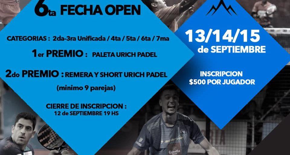 6º FECHA DEL CIRCUITO SERRANO DE PADEL